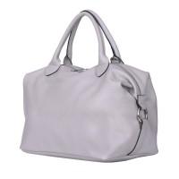 Дамска чанта от естествена кожа Viviana, сива
