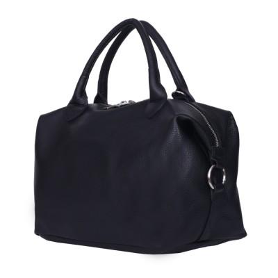 Дамска чанта от естествена кожа Viviana, черна