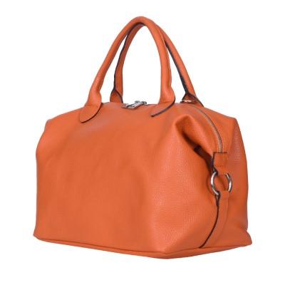 Дамска чанта от естествена кожа Viviana, оранжева