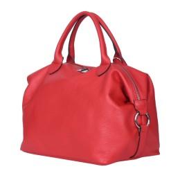 Дамска чанта от естествена кожа Viviana, червена
