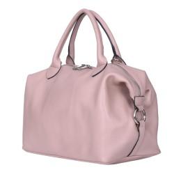 Дамска чанта от естествена кожа Viviana, розова
