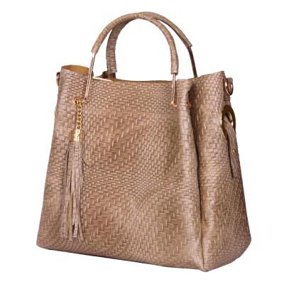 Дамска чанта от естествена кожа Olivia, бежова