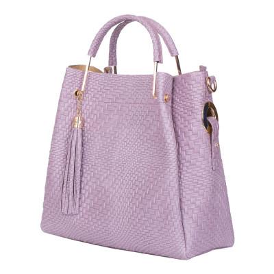 Дамска чанта от естествена кожа Olivia, лилава