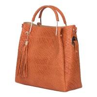 Дамска чанта от естествена кожа Olivia, оранжева
