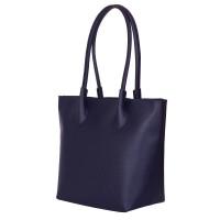 Дамска чанта от естествена кожа Thalia, тъмносиня