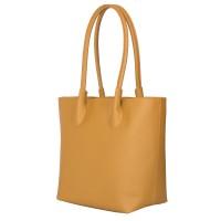 Дамска чанта от естествена кожа Thalia, жълта