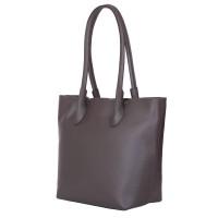 Дамска чанта от естествена кожа Thalia, сива