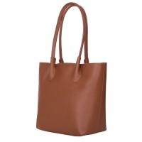 Дамска чанта от естествена кожа Thalia, кафява
