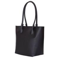 Дамска чанта от естествена кожа Thalia, черна