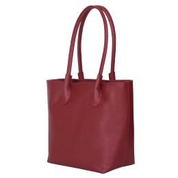 Дамска чанта от естествена кожа Thalia, червена