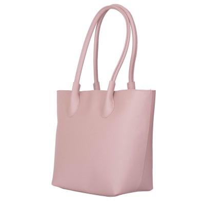 Дамска чанта от естествена кожа Thalia, розова