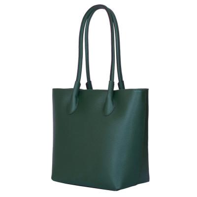 Дамска чанта от естествена кожа Thalia, зелена