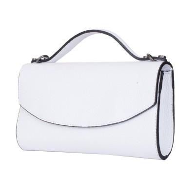 Чанта плик от естествена кожа Laura, бяла