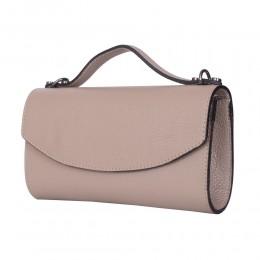 Чанта плик от естествена кожа Laura, бежова