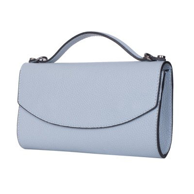 Чанта плик от естествена кожа Laura, светло синя