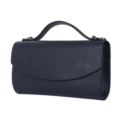 Чанта плик от естествена кожа Laura, тъмносиня