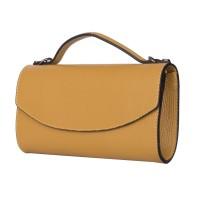 Чанта плик от естествена кожа Laura, жълта