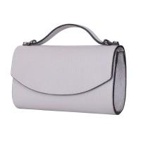 Чанта плик от естествена кожа Laura, сива