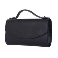 Чанта плик от естествена кожа Laura, черна