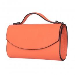 Чанта плик от естествена кожа Laura, оранжева