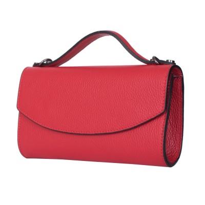 Чанта плик от естествена кожа Laura, червена