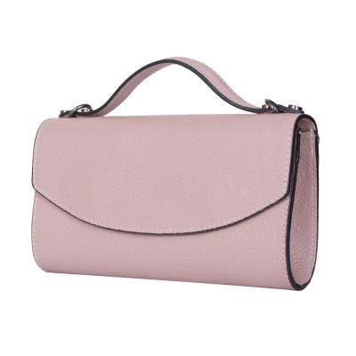 Чанта плик от естествена кожа Laura, розова