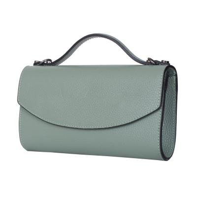 Чанта плик от естествена кожа Laura, светло зелена