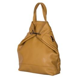 Раница и чанта от естествена кожа 2-в-1 Ingrid, жълта