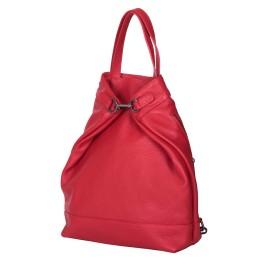 Раница и чанта от естествена кожа 2-в-1 Ingrid, червена