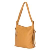 Чанта-раница 2-в-1 от естествена кожа Alesandra, жълта