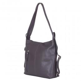 Чанта-раница 2-в-1 от естествена кожа Alesandra, сива