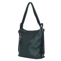 Чанта-раница 2-в-1 от естествена кожа Alesandra, зелена