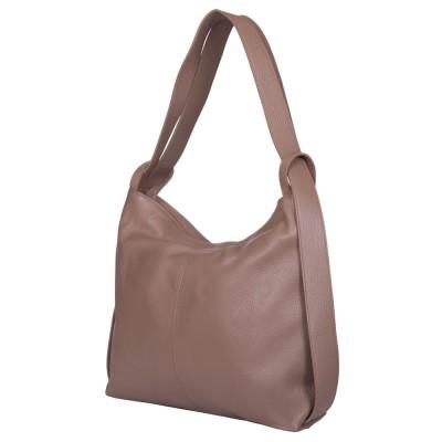 Чанта и раница от естествена кожа 2-в-1 Alda бежова