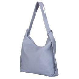 Чанта и раница от естествена кожа 2-в-1 Alda светлосиньо