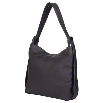 Чанта и раница от естествена кожа 2-в-1 Alda сива