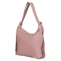 Чанта и раница от естествена кожа 2-в-1 Alda розова