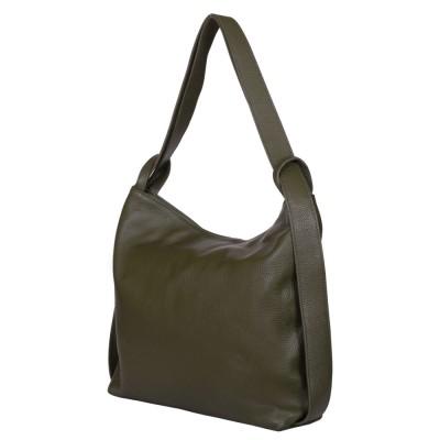 Чанта и раница от естествена кожа 2-в-1 Alda зелена