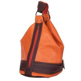 Чанта и раница от естествена кожа 2-в-1 Sonia, оранжева