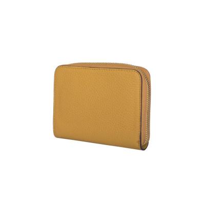 Дамски портфейл от естествена кожа Enrico, жълт