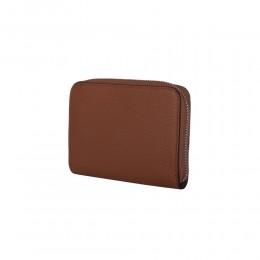 Дамски портфейл от естествена кожа Enrico, кафяв
