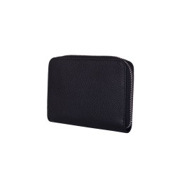 Дамски портфейл от естествена кожа Enrico, черен