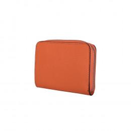 Дамски портфейл от естествена кожа Enrico, оранжев
