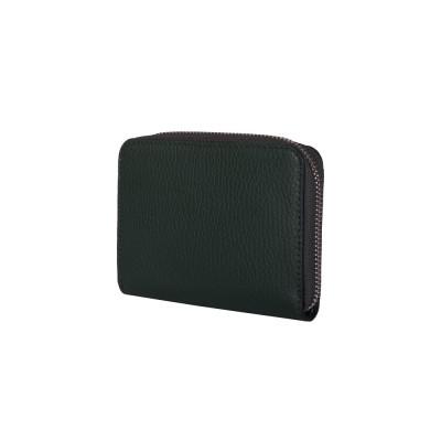 Дамски портфейл от естествена кожа Enrico, зелен