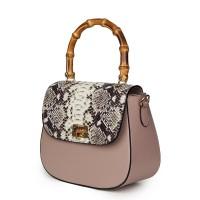 Кожена чанта тип портмоне Ariana, бежова