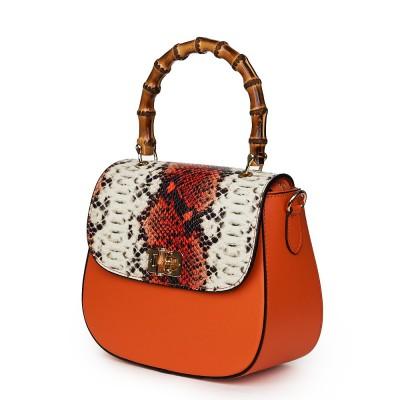 Кожена чанта тип портмоне Ariana, оранжева