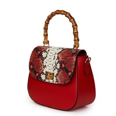 Кожена чанта тип портмоне Ariana, червена