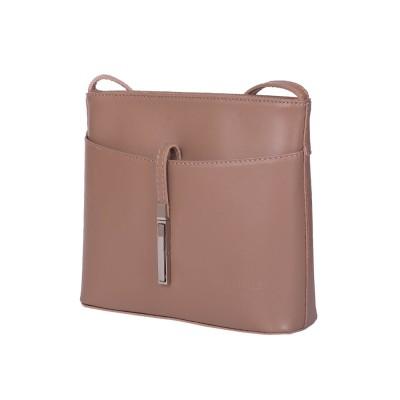 Кожена дамска чанта тип портмоне мини Julia, бежова