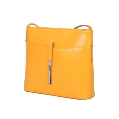 Кожена дамска чанта тип портмоне мини Julia, жълта