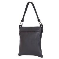 Чантата тип портмоне от естествена кожа Lolita, сива