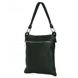Чантата тип портмоне от естествена кожа Lolita, зелена